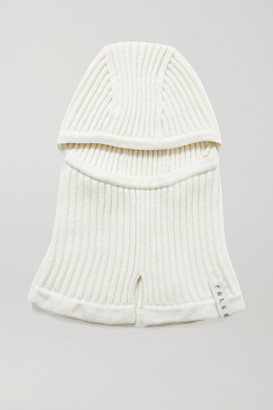 FALKE ERGONOMIC SPORT SYSTEM Ribbed Wool-blend Balaclava - Off-white