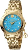 Ferré Milano Women's FM1L032M0051 Turquoise Dial with Two Toned Stainless-Steel band Watch.