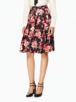 Kate Spade Shadow buds pleated skirt
