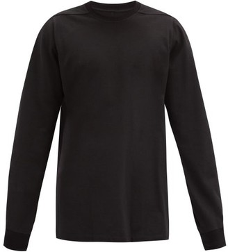 Rick Owens Panelled Cotton-jersey Sweatshirt - Black