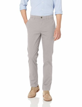 Amazon Essentials Skinny-Fit Broken-in Chino Pant Light Grey 42W x 28L