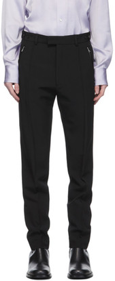 Dries Van Noten Black Zip Trousers
