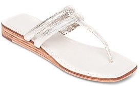 Bernardo Women's Ozette Thong Wedge Sandals