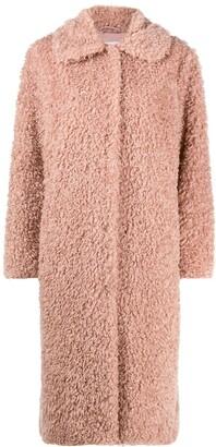 Stand Studio Shaggy Faux-Fur Coat