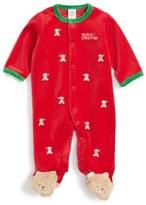 Little Me Cute Teddy Velour Footie (Baby Boys)