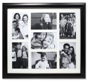 "Lawrence Frames Black Collage Frame - Seven Opening Gallery Frame - 4"" x 6"""