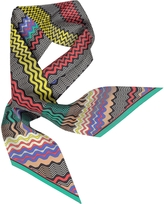 Missoni Digital Waves Printed Silk Necktie Scarf