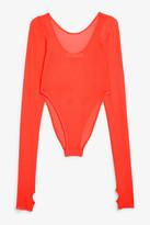 Monki Long-sleeve mesh body