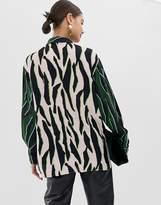 Asos animal mixed print oversized shirt