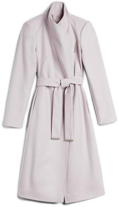 DKNY Rose Mid Length Wool Wrap Coat