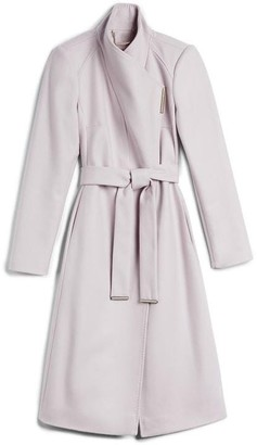 DKNY Rose Mid Length Wool Wrap Coat