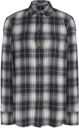 Vince Checked Cotton-flannel Shirt