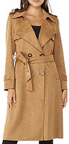 Peter Nygard Faux Suede Trench Coat