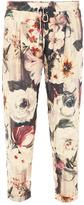 Haute Hippie Floral-print silk trousers