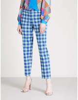 Mary Katrantzou Amra tapered mid-rise cotton-blend trousers