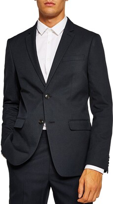 Topman Skinny Fit Textured Suit Jacket