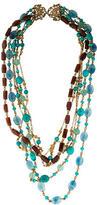 Stephen Dweck Turquoise, Quartz & Topaz Bead Multistrand Necklace
