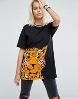 Asos Oversized T-Shirt In Leopard Print