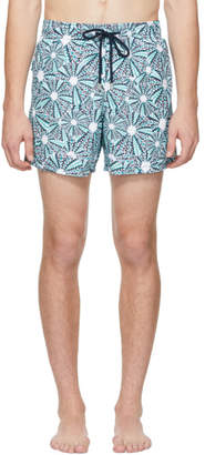 Vilebrequin Blue Oursinade Moorea Swim Shorts