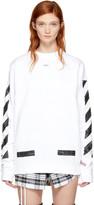 Off-White White Brushed Diagonal Sweatshirt