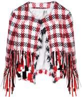 Oscar de la Renta embellished houndstooth jacket