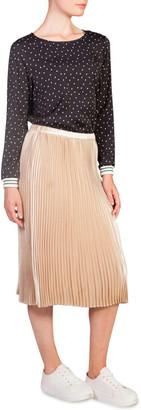 Skin and Threads Metallic Pleat Skirt
