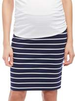 Motherhood Maternity Secret Fit Belly Striped Pencil Fit Maternity Skirt