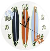 Trend Lab Surf's Up Surfboard Wall Clock White