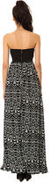 Reverse The Tribal Lace Bustier Maxi Dress