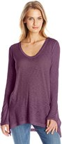 Splendid Women's Slub V-Neck Long Sleeve Tunic Top
