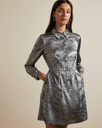 Ted Baker COLLIZ Metallic shirt dress