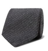 Tom Ford 8cm Mélange Silk And Wool-blend Tie - Dark gray