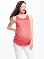 Old Navy Maternity Eyelet-Yoke Slub-Knit Top