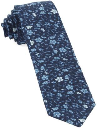 Tie Bar Southey Floral Navy Tie