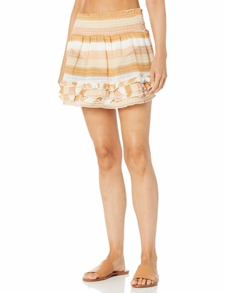 Ramy Brook Women's Madina Striped Ruffle Coverup Skirt