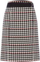 HUGO BOSS Vunona Houndstooth Skirt