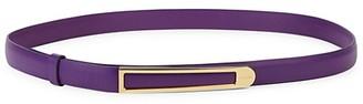 Salvatore Ferragamo Slim Leather Belt