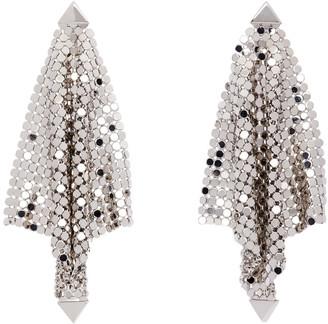 Paco Rabanne Silver Mini Mesh Earrings