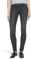 Current/Elliott The Stiletto Studded Patch Skinny Jeans (Montrose)