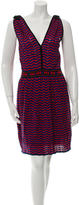 M Missoni Patterned Knee-Length Dress w/ Tags