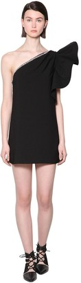 Self-Portrait Self Portrait Embellished Volant Crepe Mini Dress