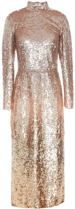 Temperley London Opia Open-back Degrade Sequined Stretch-crepe Midi Dress