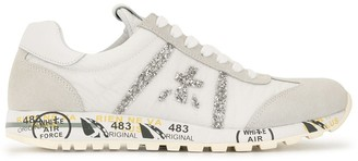 Premiata Lace Up Glitter Detail Sneakers