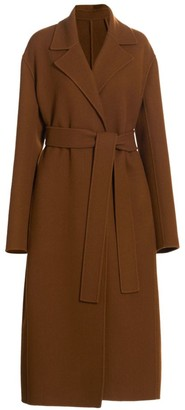The Row Malika Wool-Blend Long Belted Coat
