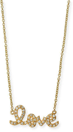 Sydney Evan 14k Yellow Gold Small Diamond Love Necklace