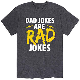 Instant Message Mens Men's Tee Shirts HEATHER - Heather Charcoal 'Dad Jokes Are Rad Jokes' Tee - Men