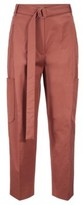 HUGO BOSS - Relaxed Fit Pants In Portuguese Stretch Cotton - Brown