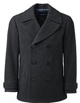 Lands' End Men's Wool Peacoat-Vibrant Zest