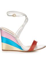 Chloé Metallic rainbow wedge sandals