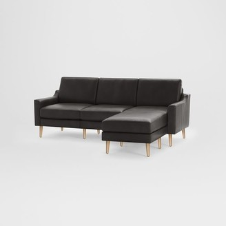 west elm Burrow Nomad Leather Reversible Chaise Sectional (86.5)